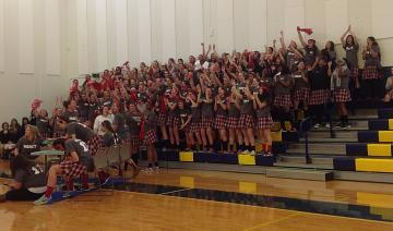 Group Of Students at a pep rally